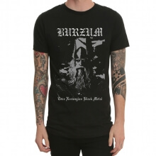 Burzum varg Rock T-shirt Black Mens Tee
