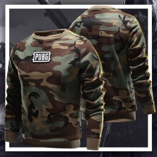 Camouflage Playerunknown'S Battlegrounds Hoodie 3XL Pubg Armory Sweatshirt