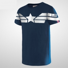 Captain America T Shirt Blue Mens Captain Costume Shirt