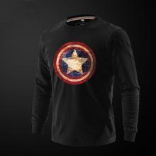 Captain America T Shirt Full Sleeves Black Tee