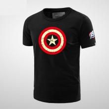 Captain America Tee Shirt Black Men Tee