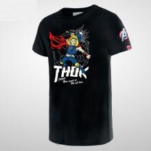 Cartoon Thor Tshirt Marel Superhero Tee