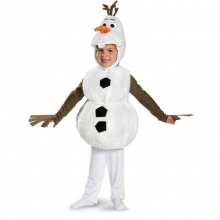 Comfy Deluxe Plush Adorable Child Olaf Halloween Costume For Kids