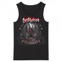 Cool Destruction Tank Tops Hard Rock Black Metal Rock Sleeveless Tshirts