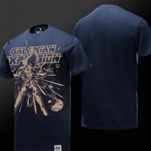 Cool Galaxian Explosion Tshirt Blue Saint Seiya Tee