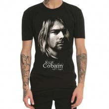 Cool Kurt Cobain Head Black T Shirt