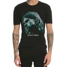 Cool Kurt Cobain T-shirt Black Mens Tee