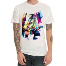 Cool kurt cobain white t shirt