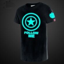 Cool Luminous Captain America Shield T Shirt