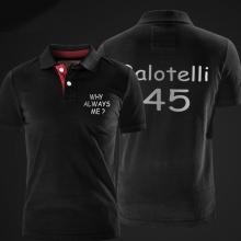Cool Mario Balotell polo shirt Football Star xxl red cotton polo t shirt for men