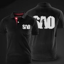 Cool Sword Art Online Polo Shirt Grey Cotton xxl polo for men