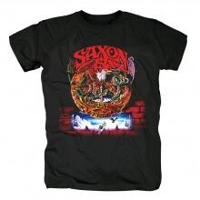 Cool Uk Saxon The Nations T-Shirt Metal Rock Band Graphic Tees
