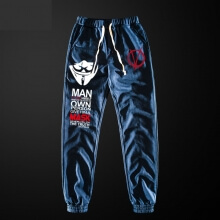 Cool V for Vendetta Sweatpants With Pockets