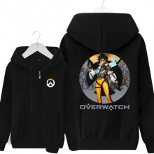 Cool Zipper Hoodie Tracer Overwatch Merchandise