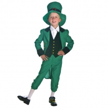 Cosplay Costume Kids Irish Fairy Children's Day Performance Clothing Green Top Quality