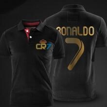 Cristiano Ronaldo Polo T shirt CR7 Black Mens Polo Shirt