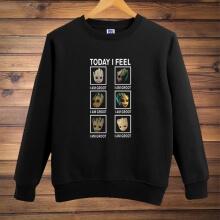 Cute I am Groot Crew Neck Sweatshirt Gotg Guardians Black Hoodie