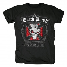 Five Finger Death Punch Band Legionary Tees California Skull Rock T-Shirt