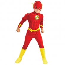 The Flash Hero Cosplay For children Muscle Performance Costumes Kids