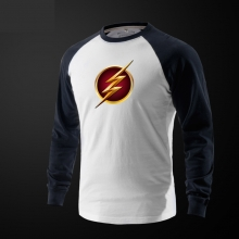 The Flash Logo Tee Long Sleeve Grey Tshirt