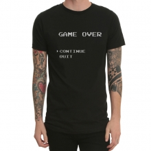 Game Over 8-Bit Game Console 8Bit Red And White Machine Printing T-Shirt