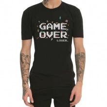 Game Over 8Bit 8-Bit Gaming Machine Red And White Printing T-Shirts