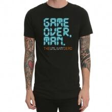 Game Over Humorous Black Print T-Shirt for Men