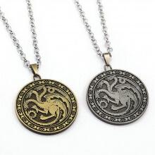 Game of Thrones House Targaryen Necklace
