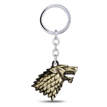 House Stark Wolf Head Key Chain Game of Throne Keychain