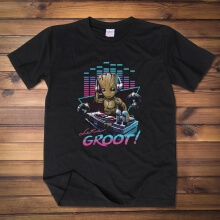 I Am Groot T-shirt Black Guardians of the Galaxy Tee Shirts for Men
