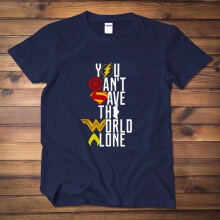 Justice League Batman Tshirt You Can't Save The World Alone Tees