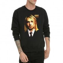 Kurt Cobain Rock Sweatshirt Black XXl Hoodie