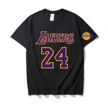 Lakers Kobe Bryant 24 Black Shirt