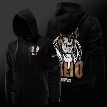 League of Legends LOL Galio Hoodie Black 3xl ZIpper Sweatshirt