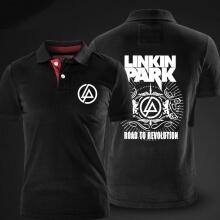 Linkin Park Polo Shirt Black Mens xxl cotton Polo