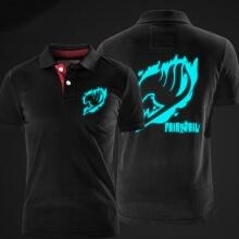 Luminous Fairy Tail Polo Shirt Black XXL Men Polo T shirt