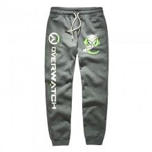 Luminous Overwatch Genji Pants OW Grey Drawstring Casual Sweatpants