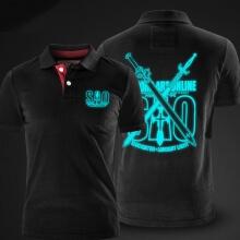 Luminous Sword Art Online Polo Shirts Grey Mens Cotton Polo