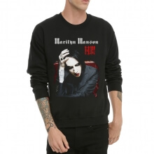 Marilyn Manson Black Crew Neck Sweatshrit