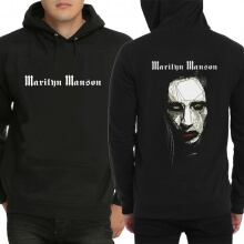 Marilyn Manson Black Pullover Hoodie for Youth