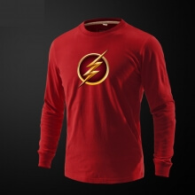 Marve The Flash Hero Long Sleeve Tee Shirt