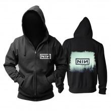 Nine Inch Nails With Teeth Hoodie Rock Sweat Shirt