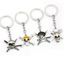 One Piece Anime Pirates Luffy Soro Sanji Logo Key Rings