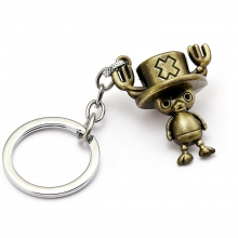 One Piece Anime Reindeer Choba Ship Doctor Model Key Chains