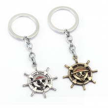One Piece Anime Skull Compass Logo Key Chains
