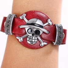 One Piece Bracelets Skull Pirates Luffy Logo