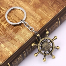 One Piece Keychains Compass Key Holder