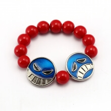 One Piece Luffy Pirates Red Beaded Bracelet Bracelets