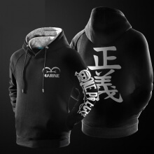 One Piece Marine Logo Pullover Hoodie for Boy