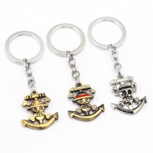 One Piece Pirates Anchor Logo Key Chains